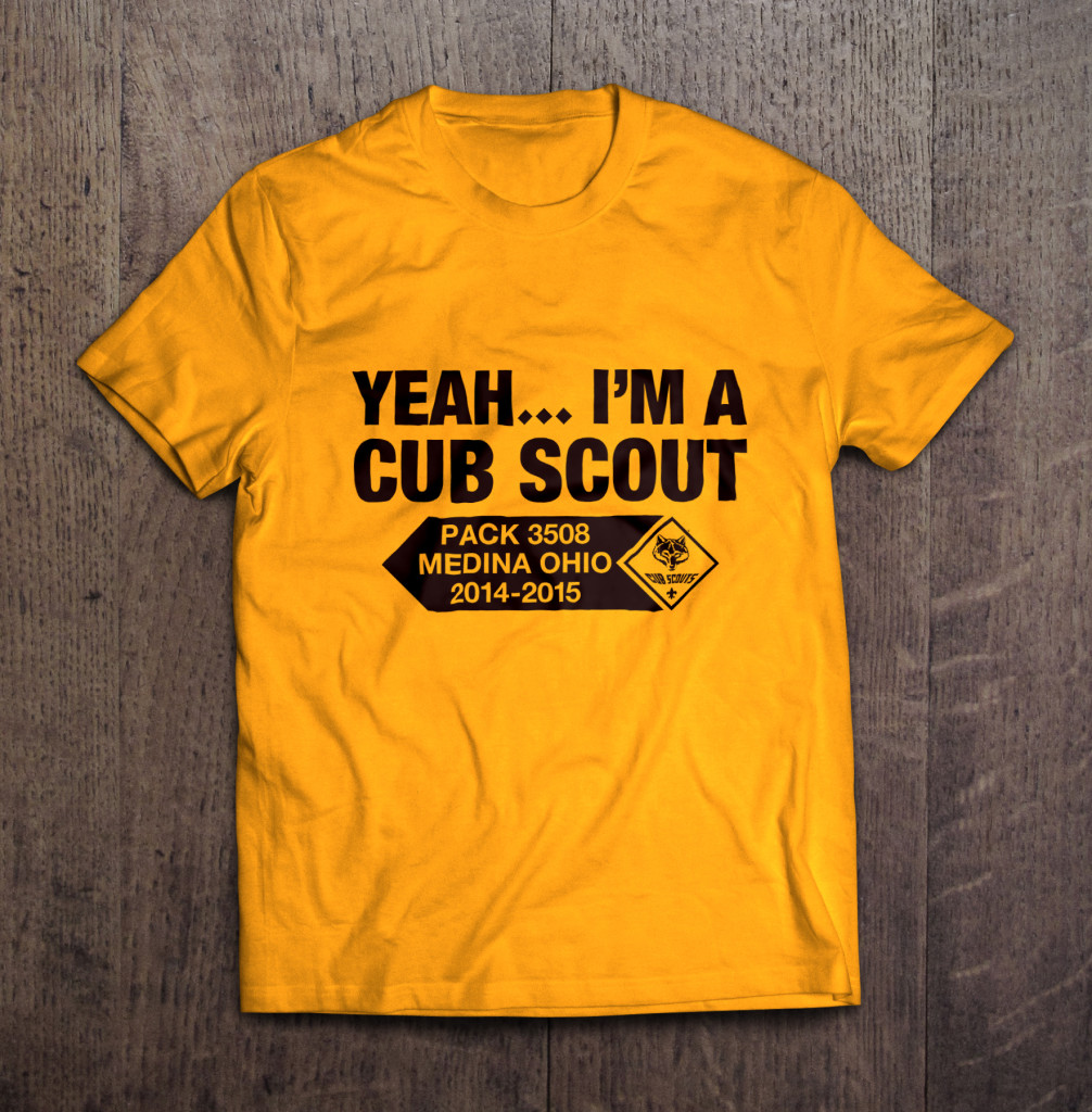 cub scout pack 3508 tee shirt design